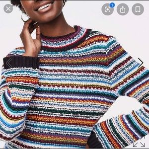 LOFT Rainbow stitched sweater